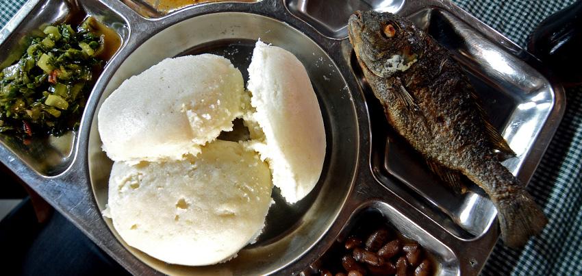Nsima, Chambo, Beans and veggies