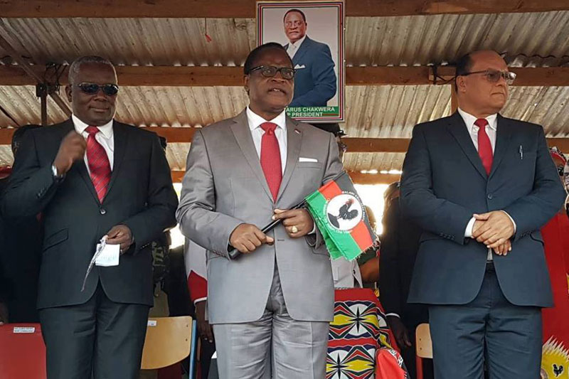 Richard Msowoya, Lazarus Chakwera and Sidik Mia