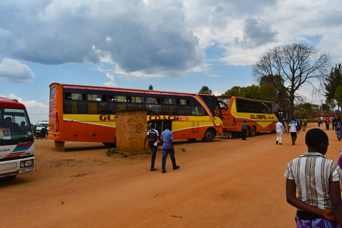 Buses that ferried Ugandan pilgrims to Kibeho for the Feast of Our Lady of Sorrows