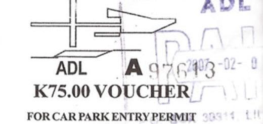 Kamuzu International Airport car park ticket