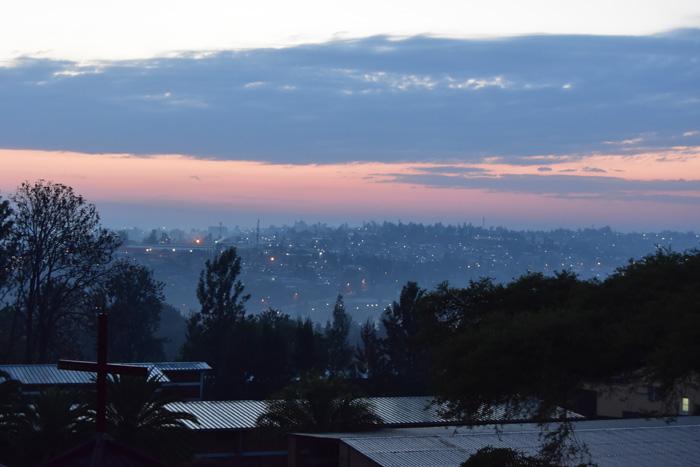 Dawn over Kigali, Rwanda