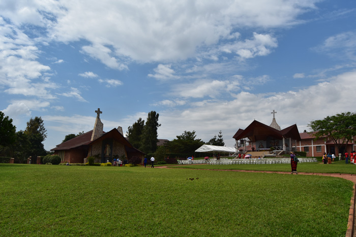 All set for the Feast of the Exaltation of the Holy Cross at the Divine Mercy Sanctuary in Kabuga, Kigali.
