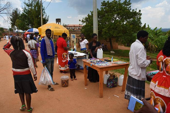 Vendors outside the sanctuary in Kibeho