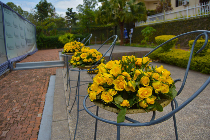Flowers at the Kigali Genocide Memorial
