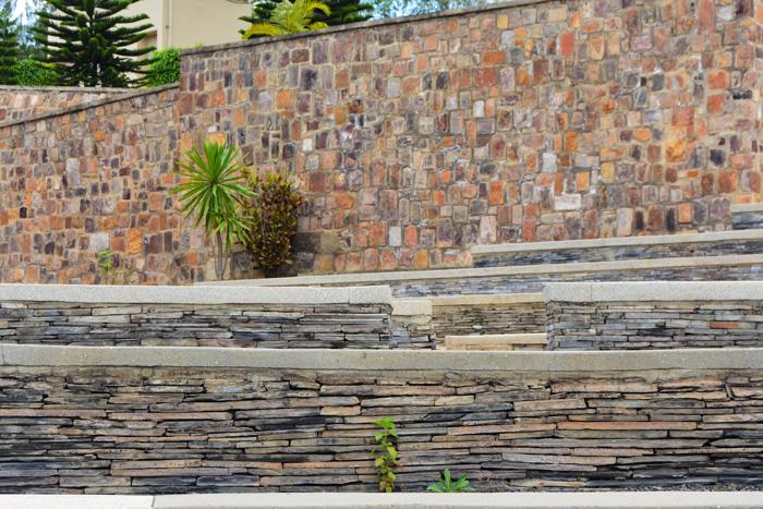 Beautiful rock work at the Kigali Genocide Memorial