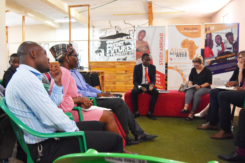 mHub's Vincent Kumwenda kicking off the session