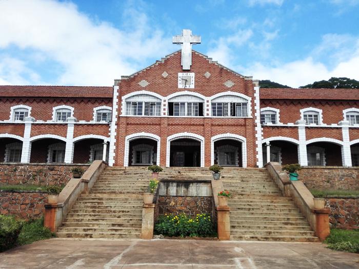 The Roman Catholic Kachebere Major Seminary main entrance